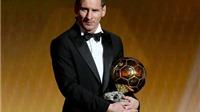Với Quả bóng vàng FIFA 2015, Messi giành tổng cộng 140 danh hiệu
