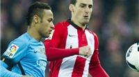 Neymar nói mỉa trọng tài sau trận đấu với Athletic Bilbao