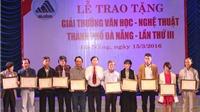 'Minh sư – Chuyện Nguyễn Hoàng mở cõi' đạt giải Nhất Văn học – Nghệ thuật Đà Nẵng