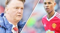 "Louis van Gaal: ""Marcus Rashford đang thăng tiến như Xavi, Iniesta, Muller'"
