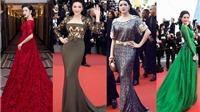 'Chiến thuật' váy áo của Lý Nhã Kỳ trên thảm đỏ Cannes