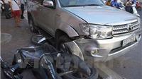 Vụ ôtô đâm liên hoàn 8 xe máy ở Xã Đàn: Chưa rõ số người bị thương