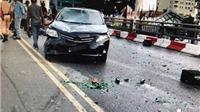 Ô tô đâm liên hoàn hàng loạt xe máy tại cầu vượt Nguyễn Chí Thanh, Hà Nội