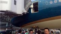 Điều tra vụ máy bay Boeing 787 của Vietnam Airlines va chạm cầu hành khách