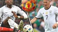 CHUYỂN NHƯỢNG 9/8: Có Pogba, Mourinho muốn bán Schweinsteiger. Chelsea tranh Icardi với Arsenal