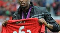 Usain Bolt thi chung kết 100m ở Olympic vẫn không quên... Man United