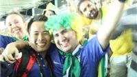Người Brazil gào thét rồi khóc sung sướng khi chấm dứt cơn khát HCV Olympic