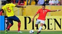 Ecuador 3-0 Chile: Sanchez tịt ngòi, đương kim vô địch Copa America thua thảm hại