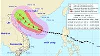 Dự báo mới nhất về HƯỚNG ĐI và VỊ TRÍ ĐỔ BỘ của bão số 7
