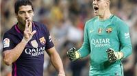 KHÓ TIN: Thủ thành Stegen chuyền bóng ngang Messi, gấp đôi Suarez