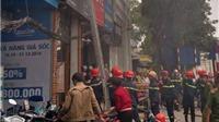 Cháy cửa hàng thời trang 5 tầng ở Cầu Giấy, Hà Nội
