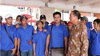 39 ngư dân Việt Nam bị Indonesia bắt được trả về nước