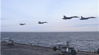 Tàu sân bay Nga CHÍNH THỨC tham chiến, SU-33 xuất kích, tên lửa Calibr khai hỏa
