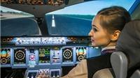 Hot girl 23 tuổi trở thành phi công hãng hàng không quốc gia Nga