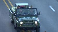 VIDEO: Cuba dùng xe Liên xô UAZ-469 và rơ moóc chở tro cốt lãnh tụ Fidel Castro