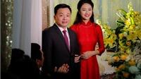 Hoa hậu Thu Ngân hạnh phúc rạng ngời trong ngày rước dâu
