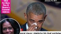 Tổng thống Obama nhìn vợ và bật khóc khi phát biểu chia tay
