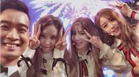 T-Ara 'đốt nóng' sân khấu, 'selfie' dễ thương bên SlimV