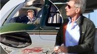 'Quáng gà', Harrison Ford cưỡi trực thăng đáp xuống... đường 'taxiway'