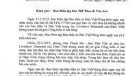 Báo Dân Việt cáo lỗi nhà báo Hữu Trịnh và BTC giải Cống hiến