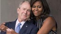 Ông Bush tiết lộ lý do đặc biệt 'thích thú' với bà Michelle Obama