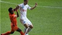 Hùng Dũng lập 'siêu phẩm', Hà Nội hòa đáng tiếc Felda United