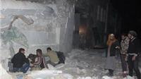 Hình ảnh tang thương nhà thờ ở Aleppo dính bom, hơn 50 người thiệt mạng