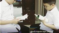 Bố con Xuân Bắc, Hoàng Bách cùng 'đọc sách thật phong cách'