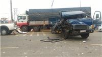 KINH HOÀNG: 6 ô tô đâm liên hoàn trên Quốc lộ 1A, 2 người bị thương nặng