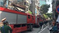 Cháy quán karaoke trên phố Mai Hắc Đế, Hà Nội