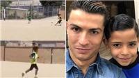 Con trai Ronaldo cũng lập hat-trick, hứa hẹn chơi bóng giỏi như bố