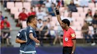 Trọng tài video khiến cầu thủ U20 Argentina không thể thoát tội 'đánh người'