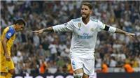 Ramos ghi bàn kiểu 'xe đạp chổng ngược', fan đòi cho đá cặp với Ronaldo