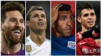 Ronaldo bật khỏi top 5 những cầu thủ được trả lương cao nhất thế giới