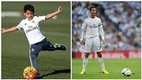 Con trai của Ronaldo lập siêu phẩm đá phạt giống hệt bố