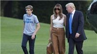 Ảnh Đệ nhất Phu nhân Mỹ Melania và con út dọn vào Nhà Trắng