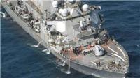 Chiến hạm Mỹ bẹp dúm, 7 thủy thủ mất tích sau vụ đâm ngoài khơi Nhật Bản