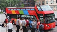 Cận cảnh xe buýt 2 tầng 'độc đáo' phục vụ khách du lịch ở Hà Nội