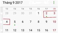 Dịp lễ 2/9 năm nay được nghỉ bao nhiêu ngày?