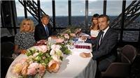 Ảnh độc: Tổng thống Trump và Macron ăn tối trên Tháp Eiffel
