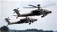 Rơi trực thăng quân sự Apache, phi công thiệt mạng