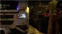 Bị xe container xoay 180 độ, tài xế Hàn 'thất kinh'
