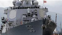 Tàu khu trục Mỹ va chạm ở gần Eo biển Malacca