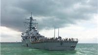 VIDEO: Tàu khu trục USS John S McCain sau cú đâm 'chí mạng'