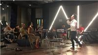 Hồng Nhung và Tùng Dương tập luyện cho đêm nhạc 'Tình yêu Hà Nội phố'