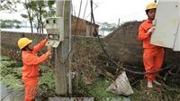 Người dân vùng lụt Mỹ Đức, Chương Mỹ ở Hà Nội được cấp điện trở lại
