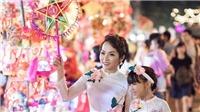 Con gái Thái Thuỳ Linh siêu đáng yêu bên mẹ và em trai mùa Trung thu