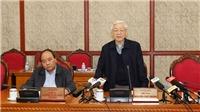 Bộ Chính trị họp cho ý kiến về nội dung kết quả của 5 Đoàn kiểm tra về công tác cán bộ