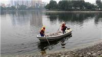 Người dân có thể đạp xe lọc nước làm sạch hồ Hà Nội