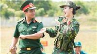 Á hậu Hà Thu lần đầu làm quân nhân